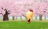 A Mii doing lunges