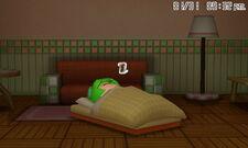 Mii in bed