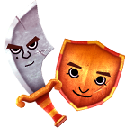 Mii Blade and Mii Shield