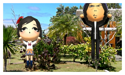 Two Miis on Honeymoon in Guam JP ver
