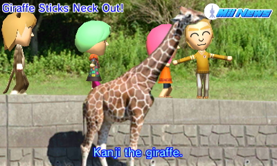 Giraffe Sticks Neck Out!