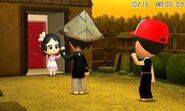 Miis waving goodbye to another