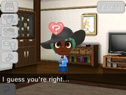 When the player tells the Mii bad timing