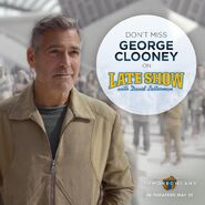George Clooney Late Show Promo