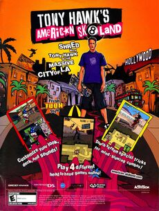 Tony Hawks American Sk8land print ad NickMag Dec Jan 2006