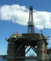 Real oil rig