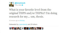 THPSHD Tony Hawk tweet