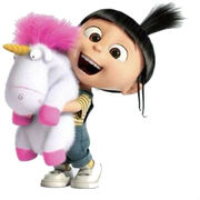 Agnes Gru Fluffy unicorn