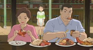 Chihiros Parents Spirited Away