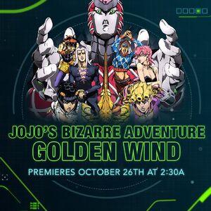 JoJos Golden Wind Toonami