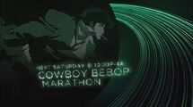 Cowboy Bebop Holiday Marathon - Toonami Promo