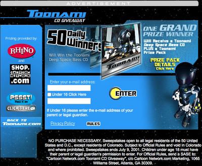 Toonami CD Giveaway