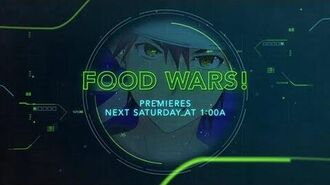 Food Wars - 1st Toonami Promo