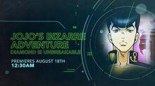 JoJo's Bizarre Adventure Diamond Is Unbreakable - Toonami Promo