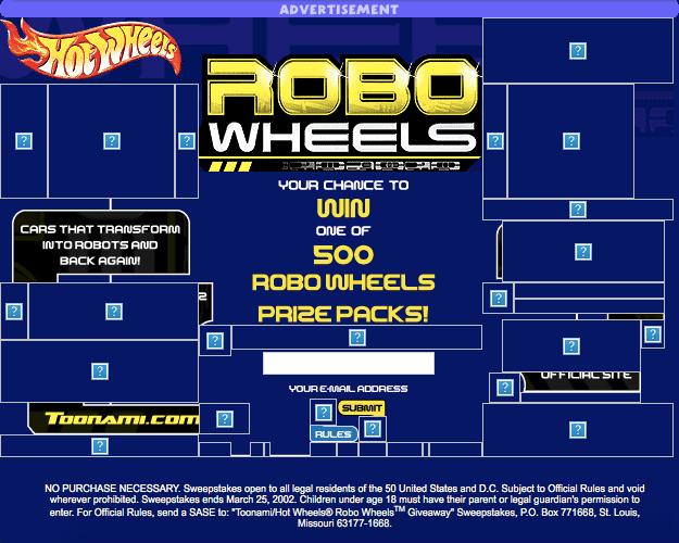 Hot Wheels Robo Wheels Giveaway