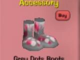 Grey Dots Boots