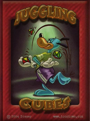 Juggling cubes card