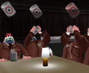 CEO battle feeding cogs