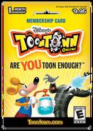 2012 1 Month TTO Membership Card