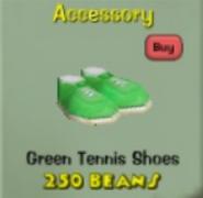 Greentennisshoes