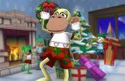 Monkey winter