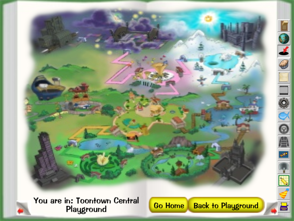 Map Toontown Wiki Fandom Powered By Wikia