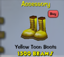 Yellow toon boots