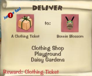 Clothing ticket