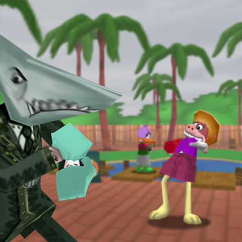Loan Sharks invade Toontown with a Mega-Invasion during Shark Week.