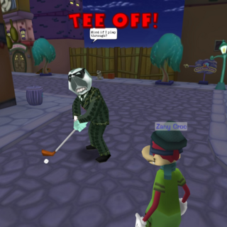 A Robber Baron using Tee Off.