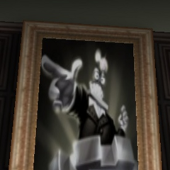 A portrait of the Vice President in the Bossbot HQ Banquet, also this was the trading card image for the VP in the original <i>Toontown Online</i>.