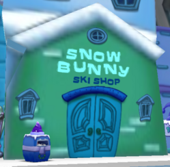 Snow Bunny Ski Shop Fixed Door