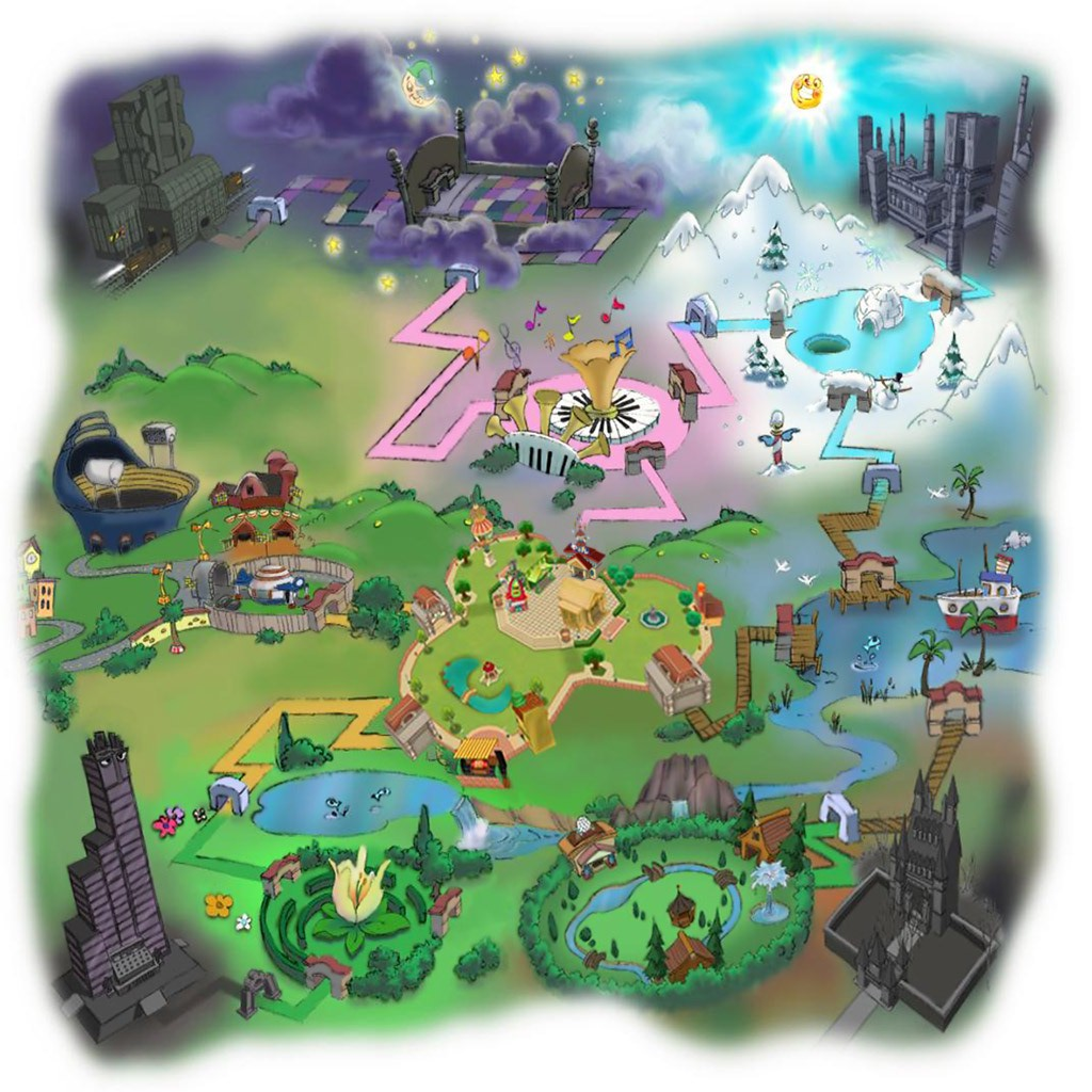 Map Of Toontown Toontown Rewritten Wiki Fandom Powered By Wikia