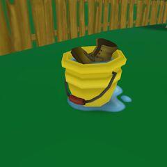 The fishing bucket