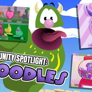 Community creations on doodles showcased in <i>Toontown Rewritten</i>'s second Community Spotlight.