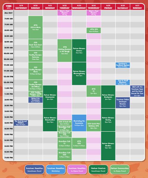 ToonFest2020 Schedule Final