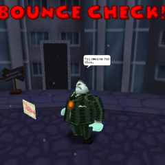 A Tightwad using Bounce Check.