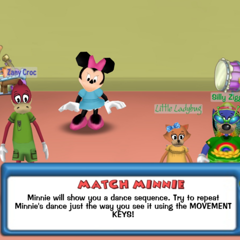 A group of Toons about to play Match Minnie
