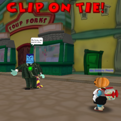 Short Change using Clip on Tie attack.