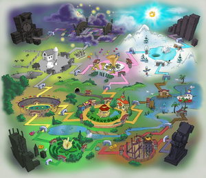 Original concept art of Toontown