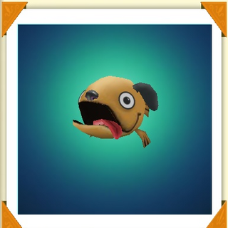 A dog fish with its tongue out, as seen in the <a href=