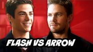 The Flash Episode 8 - TOP 10 Flash vs Arrow Moments