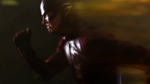 The Flash uses his super speed