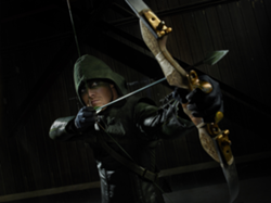 Arrow aiming his bow promo
