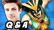 The Flash Season 2 Arrow Legends of Tomorrow Supergirl Q&A