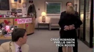 The Office PDA Clip (Michael and Holly)