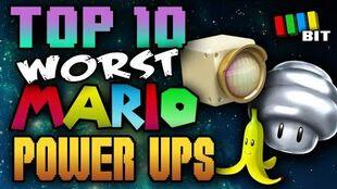 Top 10 WORST Mario Power Ups ! - TetraBitGaming | Top 10