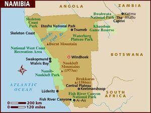 Namibia map 001