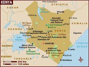 Kenya map 001