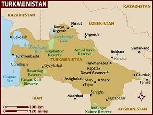 Turkmenistan map 001